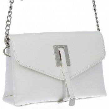 Elegantná dámska dvojkomorová taška David Jones biela
