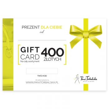 Darčeková karta v hodnote 400 PLN.