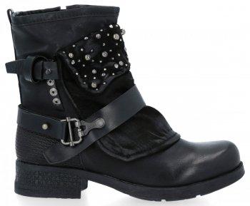 Čierne Módne Dámske Rita členkové topánky