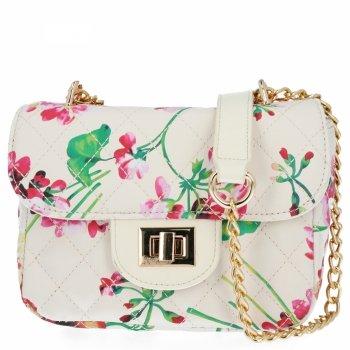 Módna dámska taška s Kvetinovou potlačou Herisson Beige