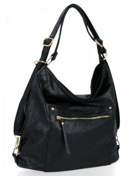 Univerzálna dámska taška s funkciou batohu od Herisson čierny