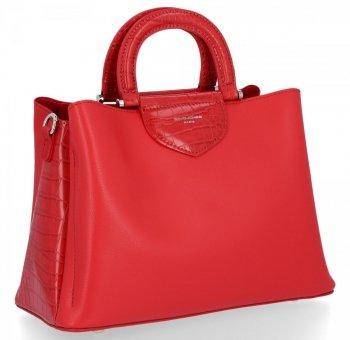 Elegantná dámska taška s tromi priehradkami David Jones červený