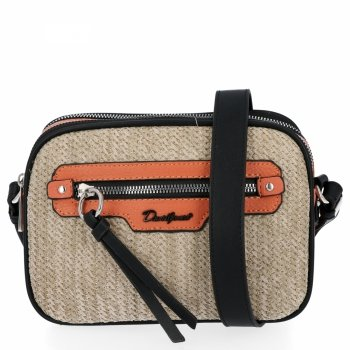 Ratan Dámske messenger bag 2 priehradky od David Jones Orange