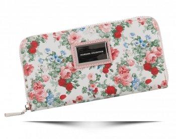 Dámska módna kabelka XL Kvetinový vzor Diana & Co viacfarebný prášok ružový