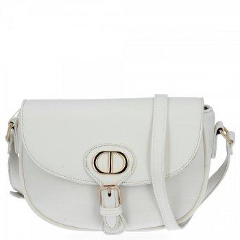 Univerzálna dámska taška na messenger pre všetky príležitosti od Herisson biela