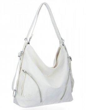 BEE Bag univerzálne dámske tašky s funkciou Madison biela batohu