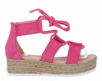 Dámske sandále fuchsie espadrille od spoločnosti Givana