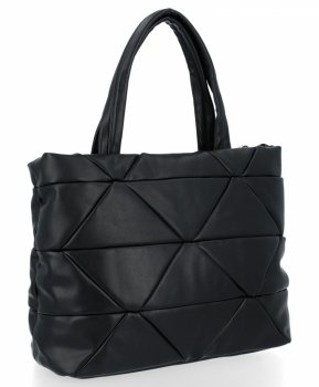 Elegantná taška Dámska dvojkomorová taška Herisson čierny