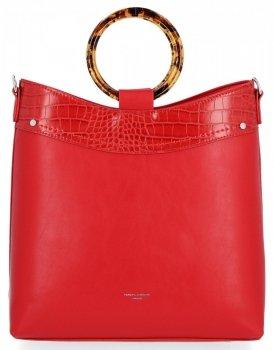 Elegantné kabelky dámske značkové tašky David Jones červený