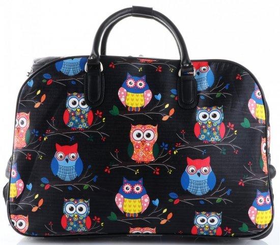 Cestovní taška v sově na kolečkách s výsuvnou rukojetí Or&Mi multicolor černá