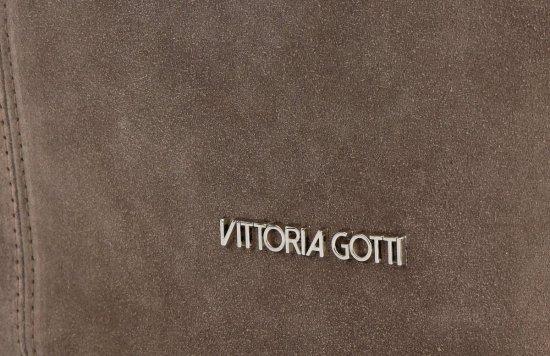 Vittoria Gotti Kožená Kabelka Shopper Made in Italy Zemitá