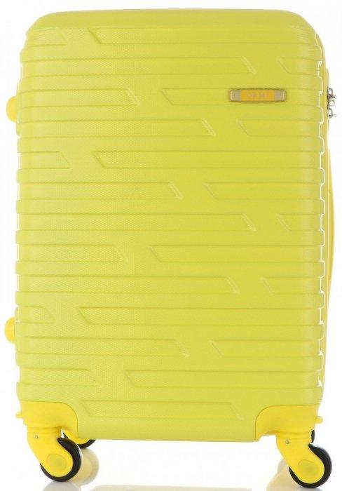 Módní Palubní kufřík Or&Mi 4 kolečka žlutá