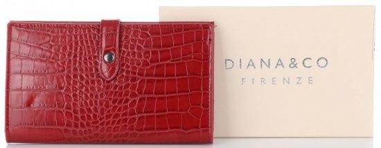 Dámská Peněženka XL Diana&Co Firenze motiv aligátorů Červená