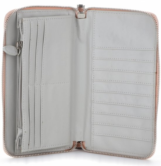 4601370ac73 Dámská peněženka XXL Diana Co Firenze lak světle růžová ...