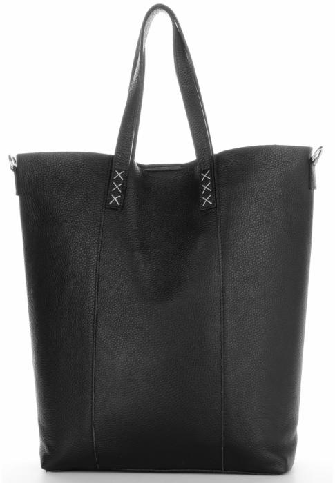 Vittoria Gotti Firmowy Shopper Made in Italy z Kosmetyczką Czarny