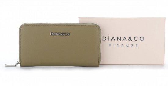 9447447067629 Klasyczny Portfel Damski Diana&Co Firenze Zielony - Panitorbalska.pl