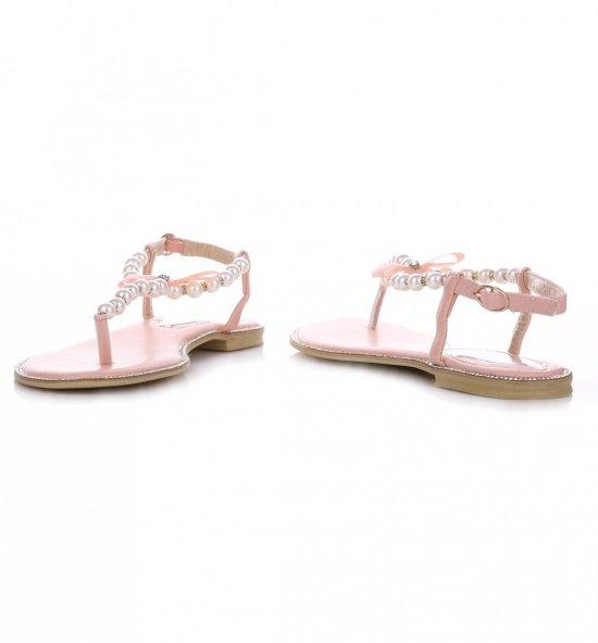 Eleganckie Sandały Damskie Różowe