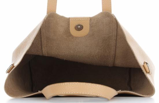Vittoria Gotti Firmowy Shopper Made in Italy z Kosmetyczką Ziemisty