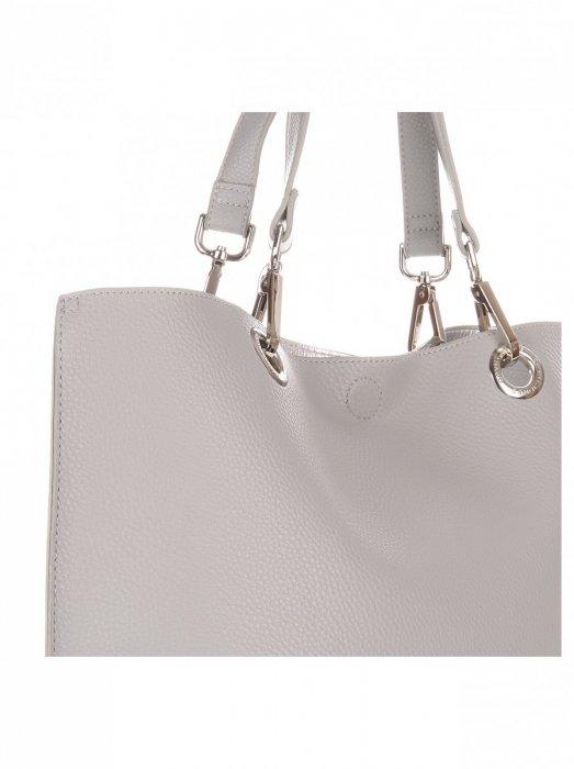 Modna Torba Damska David Jones Typu Shopper Bag XL z Etui Szara