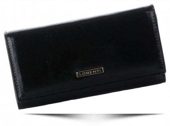 Klasyczny Skórzany Portfel Damski firmy Lorenti Czarny