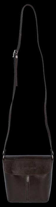 Klasyczna Listonoszka Skórzana firmy Vittoria Gotti Made in Italy Czekolada