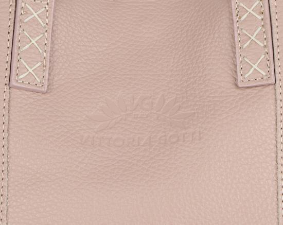 Vittoria Gotti Firmowy Shopper Made in Italy z Kosmetyczką Brudny Róż
