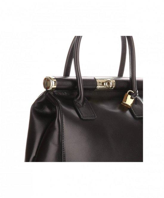 754c14e303513 Torebki skórzane kuferki Genuine Leather Czarny - Panitorbalska.pl