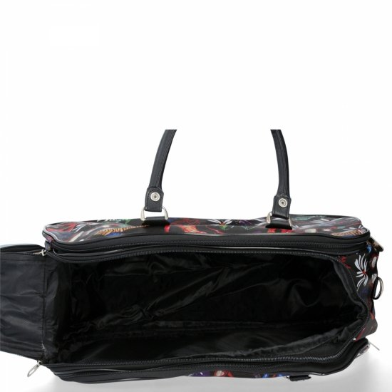 Duża Torba Podróżna Kuferek Or&Mi Shoes Multikolor - Czarna