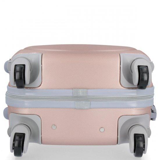 Walizka Kabinówka Ultra Light Or&Mi 4 kółka Różowa