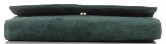 Firmowe Kopertówki Skórzane Vittoria Gotti Eleganckie Listonoszki na łańcuszku Made in Italy Butelkowa Zieleń