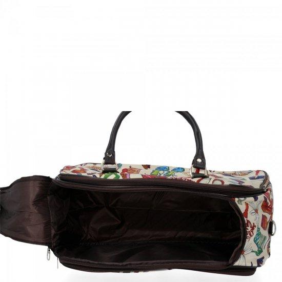 Duża Torba Podróżna Kuferek Or&Mi Shoes Multikolor - Beżowa