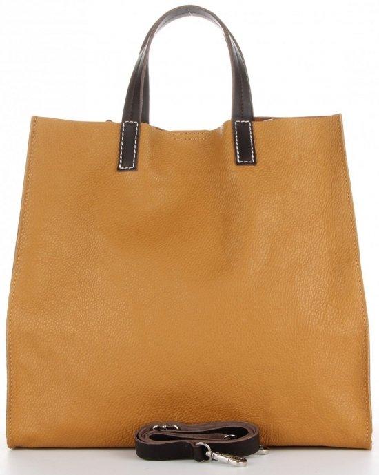 Praktyczne Torebki Skórzane 2 w 1 Shopper z Listonoszką firmy Genuine Leather Ruda
