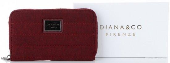 14daa7c37aa69 Modny Portfel Damski Diana&Co Firenze typu Piórnik Etui na Karty z  paskiem w rozmiarze
