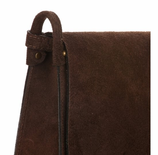 Listonoszka Skórzana Genuine Leather Czekoladowa