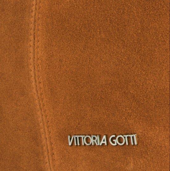 Torebka Skórzana marki Vittoria Gotti Modny Shopper Made in Italy Ruda