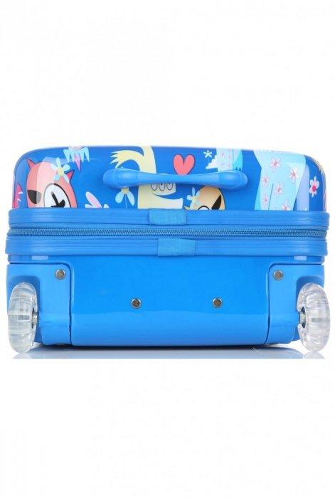 Unikatowa Walizka Kabinówka Dla Dzieci Firmy Madisson  Multikolor - Niebieska