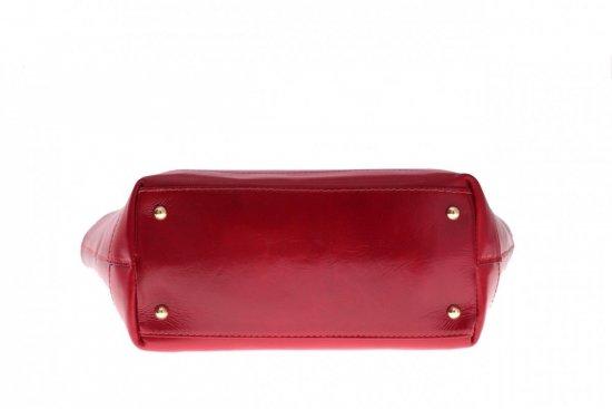 0b06b42344cfc Modne Torebki skórzane typu Shopper bag łódka Czerwona ...