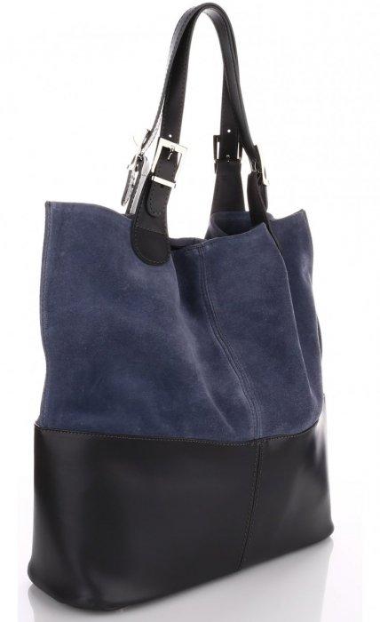 Exkluzívna Kožená taška Indigo Shopper bag