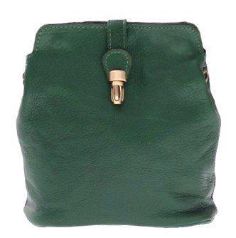Tašky Messenger vyrobené z mäkkej pravej kože zelenej