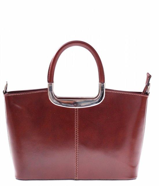 Kožená taška klasická pravá koža hnedá