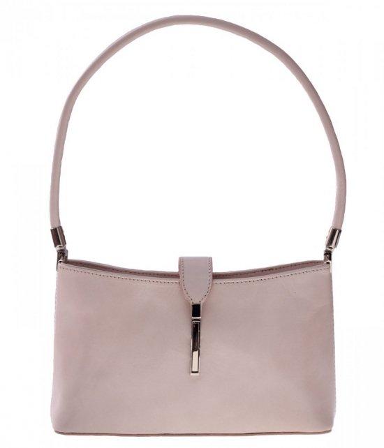 Klasické a elegantné kožené tašky svetlo béžová