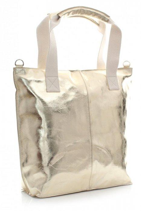 Módna kožená taška talianska Kupujúci taška zlotý
