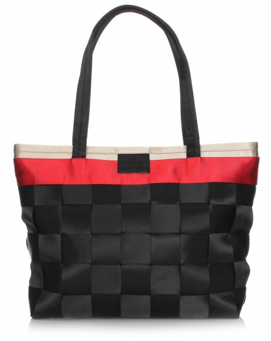 Unikátna dámska taška z odolnej čiernej tkaniny