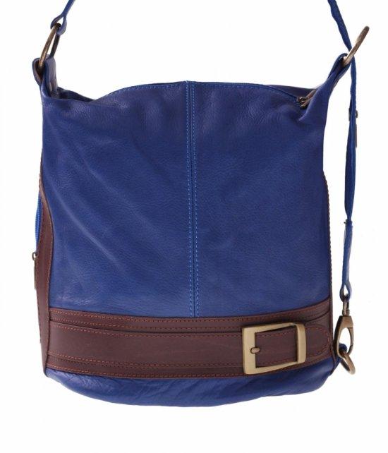 Bag Batoh Mäkká Pravá Koža Modrá