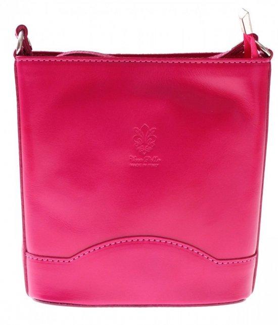 Elegantná Kožená taška Vera Pelle Fuchsia