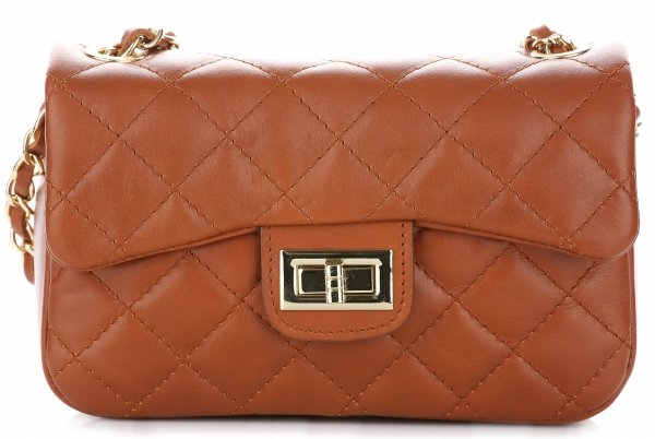 kožená kabelka listonoška Genuine Leather Zrzavá - Panikabelkova.cz 7779e7793a