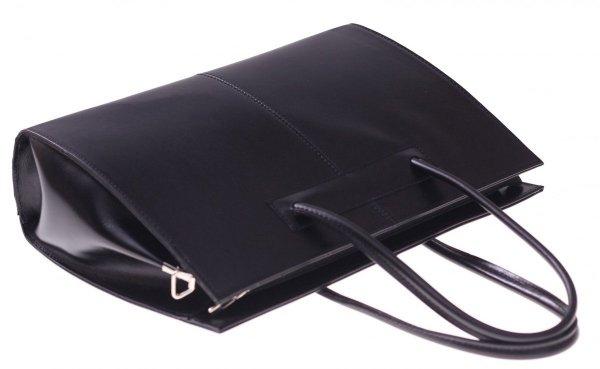 Kožená kabelka aktovka A4 Genuine Leather černá - Panikabelkova.cz aad2025b90e