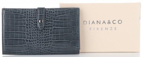 62e29941507fc Portfel Damski Etui na Karty w rozmiarze XL firmy Diana amp Co Firenze Szary