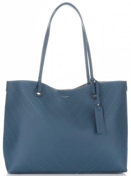 ae34efb18f858 Klasyczne torebki damskie david jones kosmetyczką niebieska jpg 448x600 Klasyczne  torebki