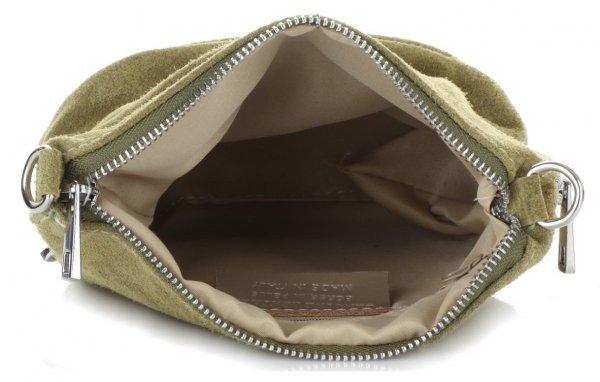 55c825094f7d1 Uniwersalne Torebki Listonoszki Skórzane firmy Genuine Leather Zielona